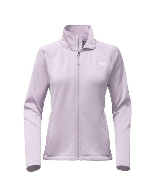 The North Face - Purple Momentum Full Zip Jacket - Lyst