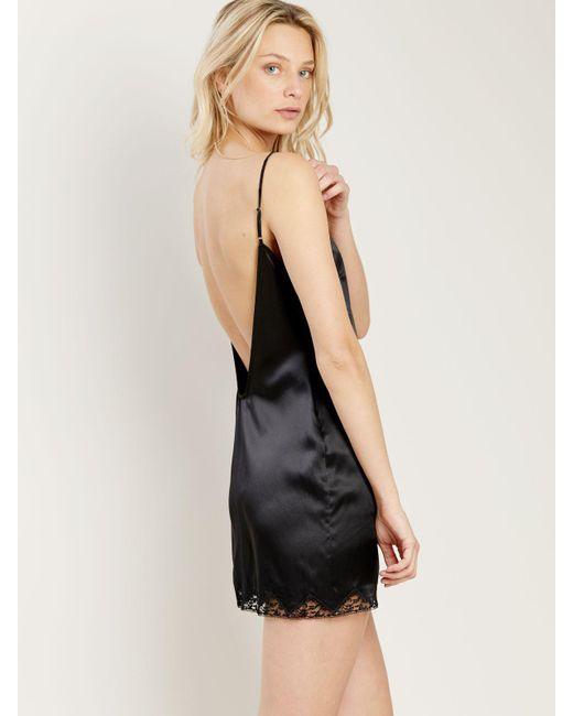 Morgan Lane - Black Gisele Nightgown In Noir - Lyst