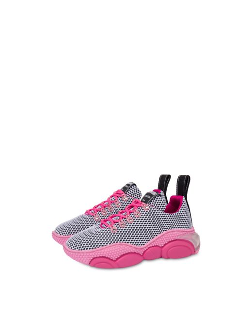Women's Pink Bubble Teddy Shoes