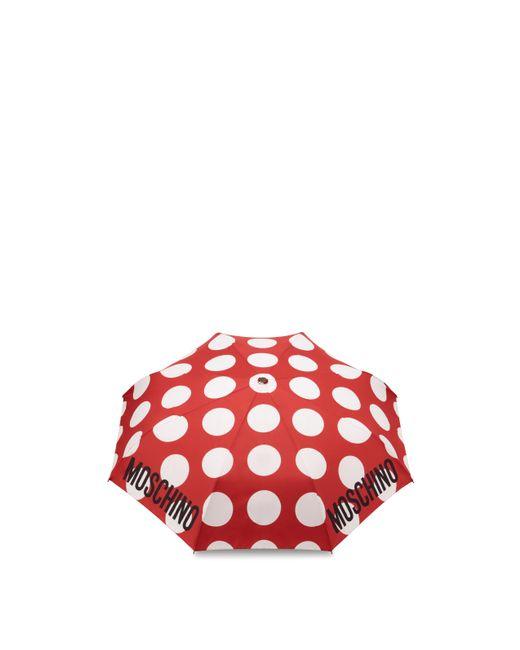 Moschino Red Polka Dots Openclose Umbrella