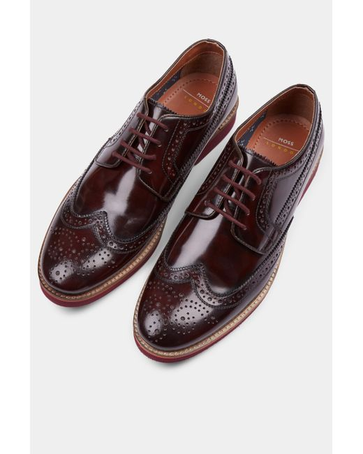 13 Foxley St: Moss London Leather Foxley Burgundy Eva Sole Derby Shoe