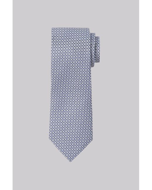 Moss Esq. | Gray Grey Geo Silk Tie for Men | Lyst