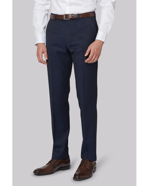 DKNY | Blue Slim Fit Ink Twill Trousers for Men | Lyst