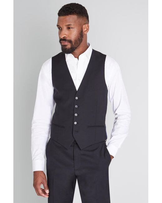 a6821930bfe3b8 Ted Baker Tailored Fit Black Waistcoat in Black for Men - Lyst