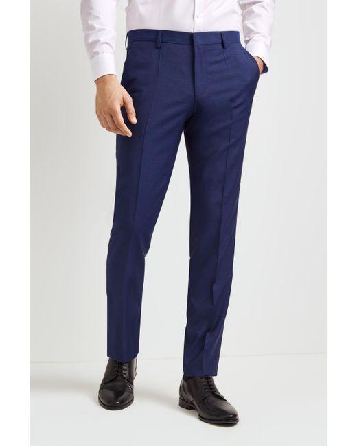HUGO Plain Bright Blue Trousers for men