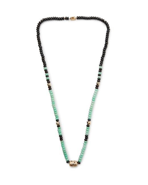 Luis Morais - Metallic Gold, Tiger's Eye And Chrysoprase Necklace for Men - Lyst