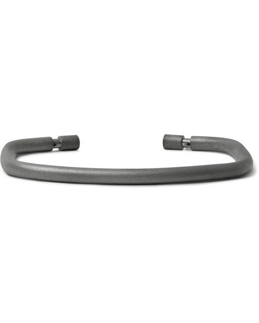Miansai | Gray Channel Rhodium-plated Cuff for Men | Lyst