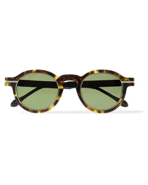 Matsuda Multicolor Round-frame Tortoiseshell Acetate And Titanium Sunglasses for men