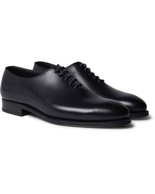 J.M. Weston Black Whole-cut Leather Oxford Shoes for men