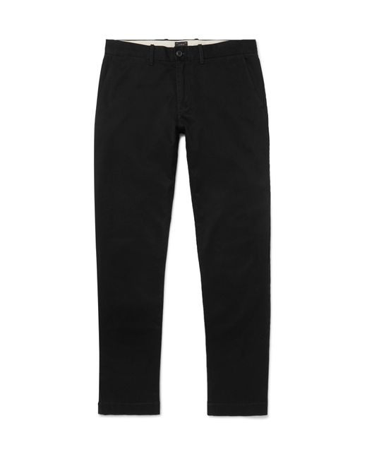 J.Crew | Black 484 Slim-fit Stretch-cotton Twill Chinos for Men | Lyst