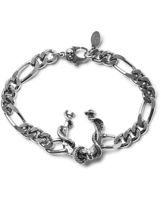 Alexander McQueen - Metallic Silver-tone Chain Bracelet for Men - Lyst