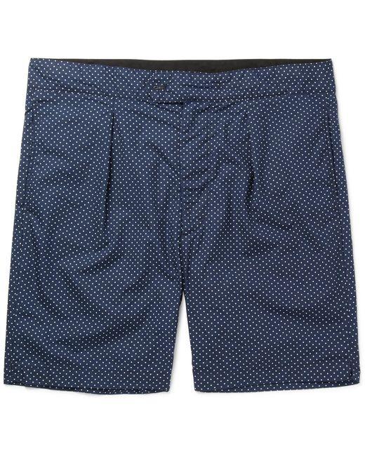 Engineered Garments - Blue Sunset Slim-fit Polka-dot Cotton-poplin Shorts for Men - Lyst