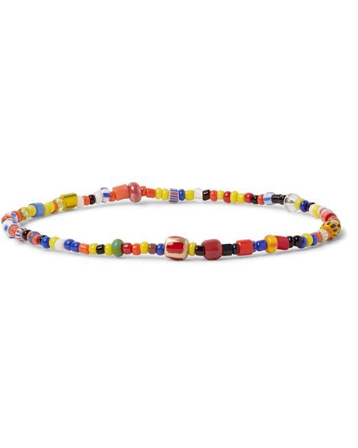 Luis Morais | Multicolor Glass Bead Enamelled Gold Bracelet for Men | Lyst