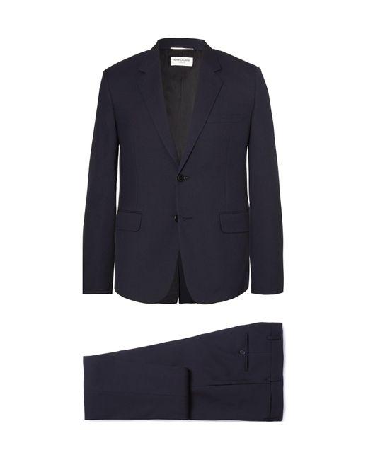 Saint Laurent - Blue Slim-fit Virgin Wool-gabardine Suit for Men - Lyst