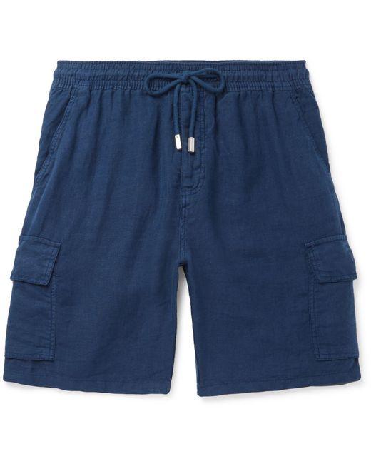 Vilebrequin - Blue Baie Linen Cargo Shorts for Men - Lyst