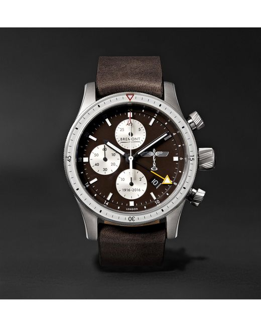 Bremont Brown Boeing 100 Automatic Chronometer 43mm Titanium And Leather Watch for men