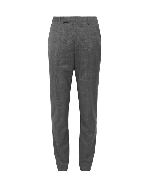 Paul Smith Gray Slim-fit Prince Of Wales Checked Wool Suit Trousers for men