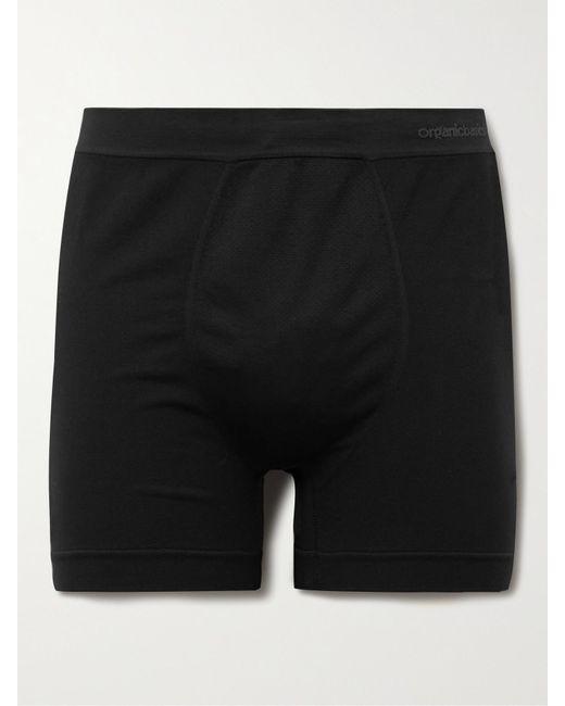 Organic Basics Black Active Recycled Stretch-piqué Boxer Shorts for men