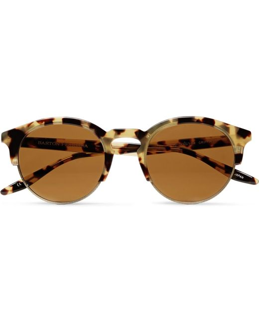 Barton Perreira - Brown Griffin Round-frame Tortoiseshell Acetate And Gold-tone Sunglasses - Lyst