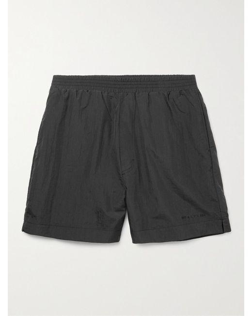 1017 ALYX 9SM Black Mid-length Logo-print Swim Shorts for men