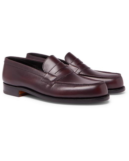 J.M. Weston 180 The Moccasin Burnished-leather Penny ...