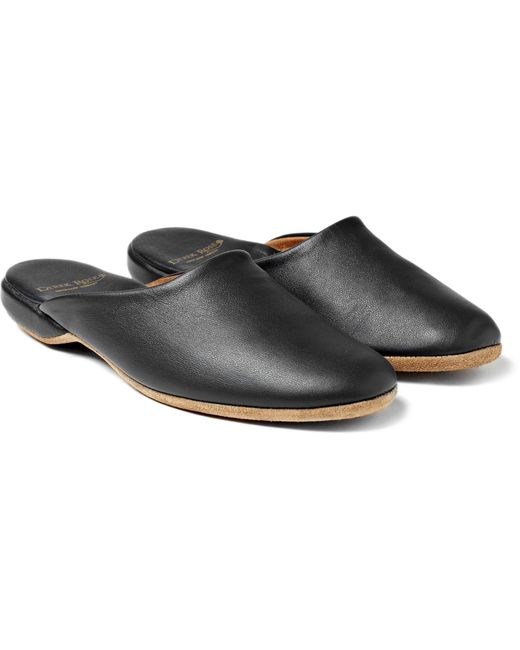 Derek Rose - Blue Morgan Leather Slippers for Men - Lyst