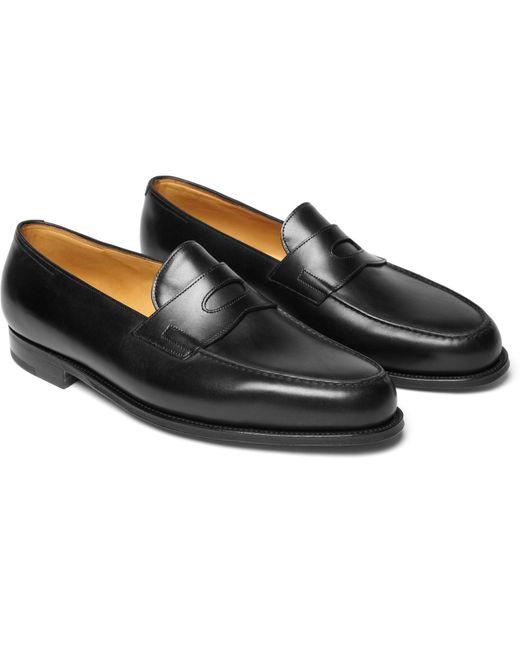 John Lobb | Black Lopez Leather Penny Loafers for Men | Lyst