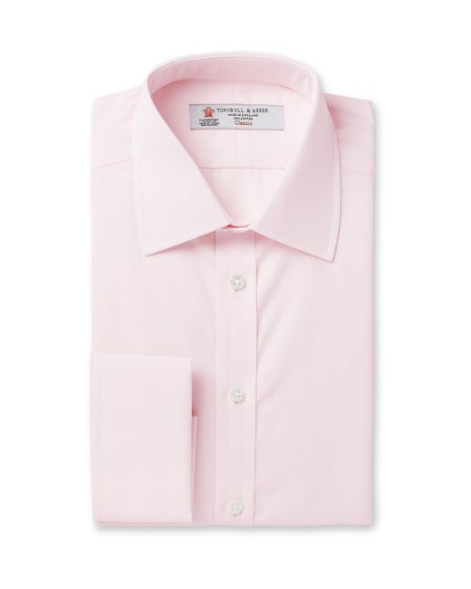 Turnbull & Asser Pink Double-cuff Cotton Shirt for men