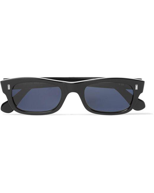 Cutler & Gross - Black Rectangle-frame Acetate Sunglasses for Men - Lyst