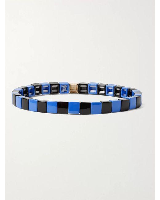 Roxanne Assoulin Blue Enamel And Gold-tone Bracelet for men