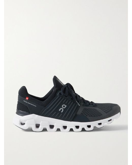 On Black Cloudswift Rubber-trimmed Mesh Running Sneakers for men