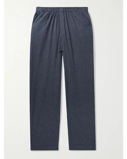 Sunspel Black Striped Cotton Pyjama Trousers for men