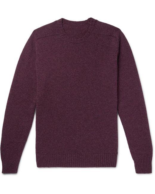 Anderson & Sheppard | Purple Shetland Wool Sweater for Men | Lyst