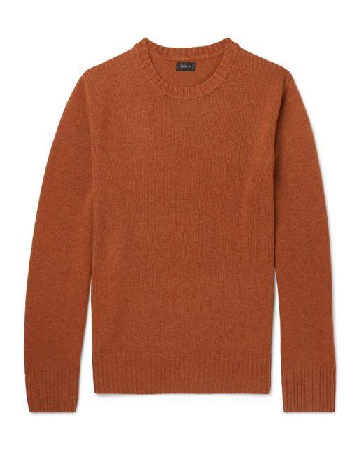 J.Crew - Orange Merino Wool-blend Sweater for Men - Lyst