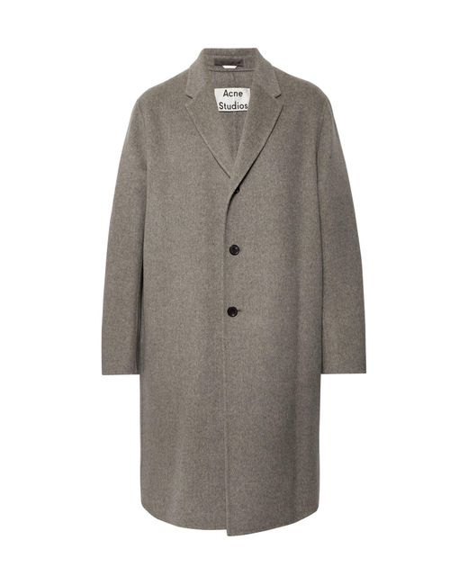 Acne Gray Chad Oversized Wool Coat for men