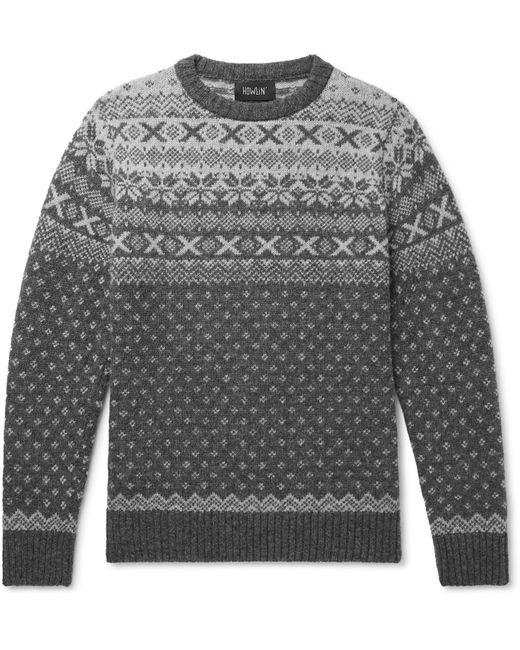 Howlin' By Morrison Gray Mr Lawrence Fair Isle Wool Sweater for men