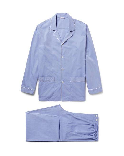 Zimmerli - Blue Mercerised Cotton Pyjama Set for Men - Lyst