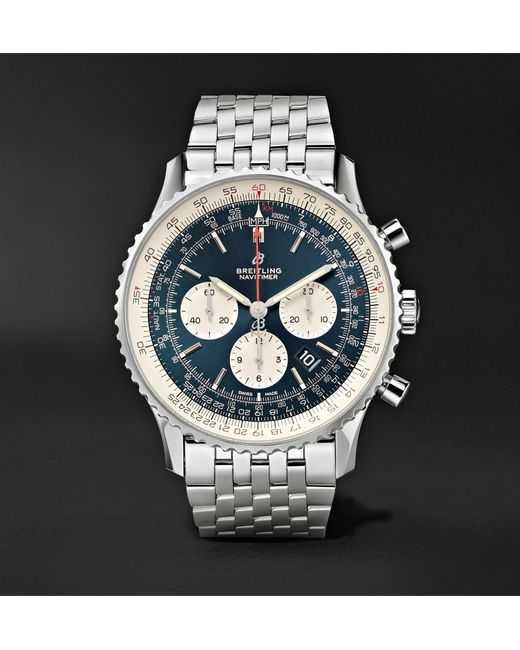 Breitling Blue Navitimer 1 Chronograph 46mm Steel Watch, Ref. No. Ab0127211c1a1 for men