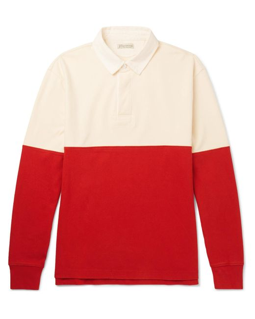 J.Crew - Red Cotton-jersey Polo Shirt for Men - Lyst