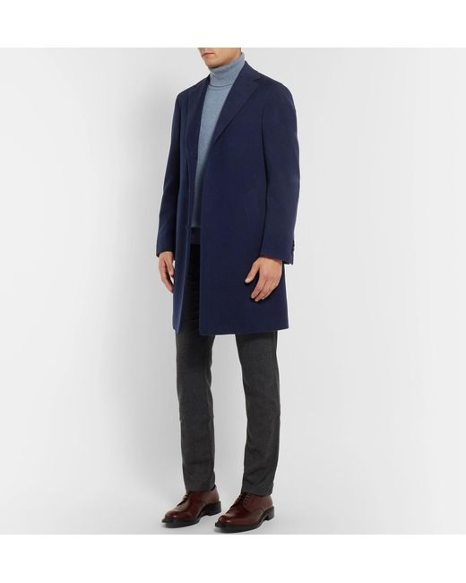 Men Blue And Cashmere Kei Canali Wool For Coat Lyst Blend 8qIdqwt