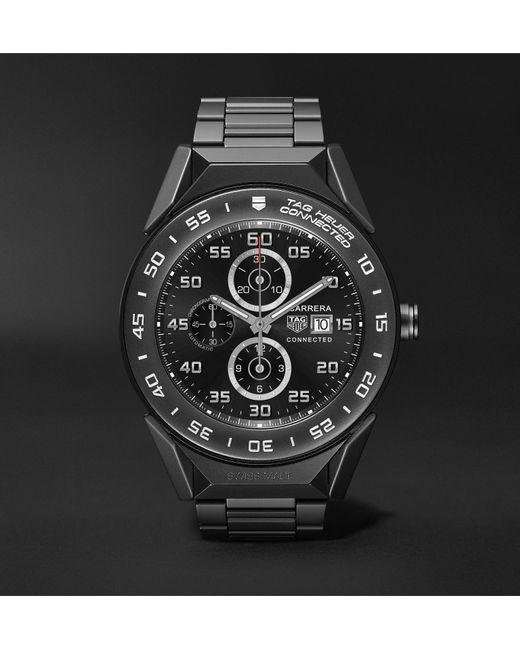 Tag Heuer - Black Connected Modular 41mm Pvd-coated Titanium Smart Watch for Men - Lyst