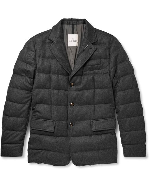 Moncler | Gray Rodin Quilted Wool-flannel Down Jacket for Men | Lyst