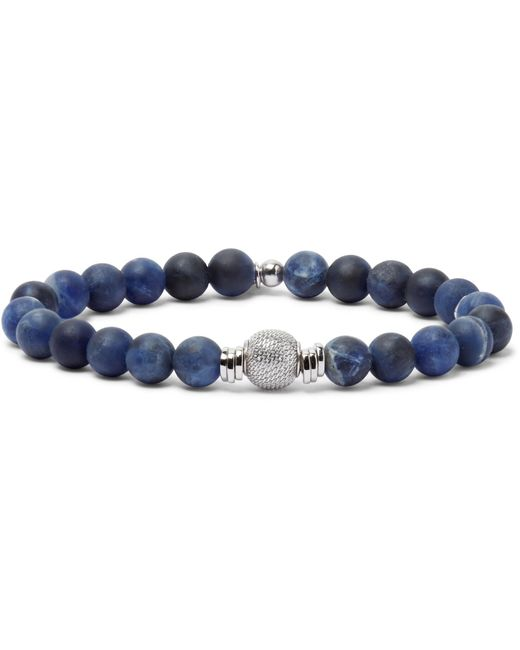 Tateossian | Blue Stonehenge Jasper And Sterling Silver Bracelet for Men | Lyst