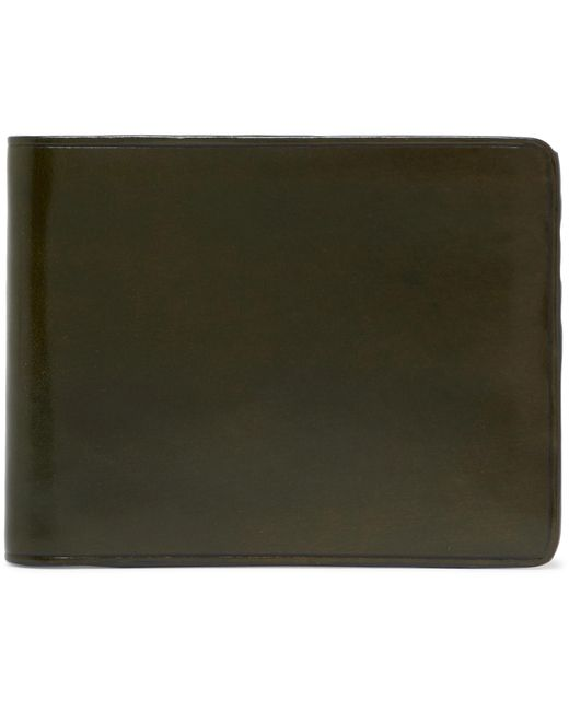 Il Bussetto - Green Polished-leather Billfold Wallet for Men - Lyst