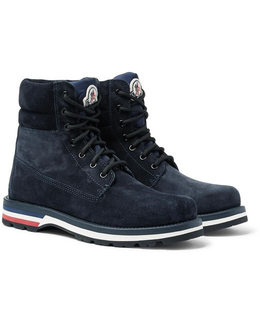Moncler Blue Vancouver Stivale Suede Boots for men