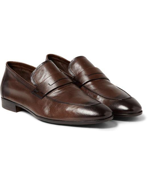 Berluti Lorenzo Polished Full Grain Leather Loafers In