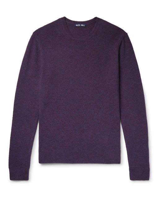 Alex Mill - Purple Mélange Merino Wool Sweater for Men - Lyst