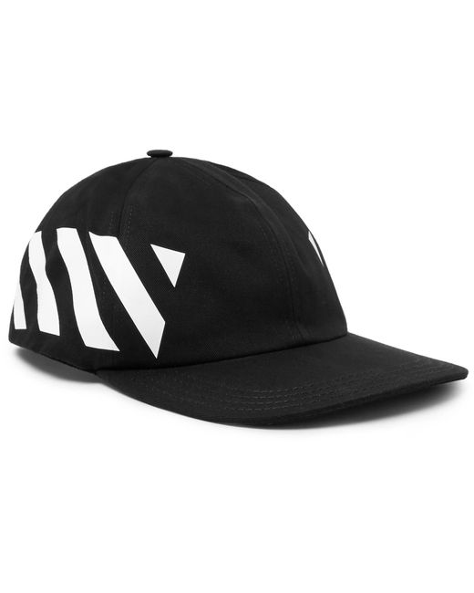 f16ccded4d0 Lyst - Off-White c o Virgil Abloh Striped Cotton-canvas Cap in Black ...