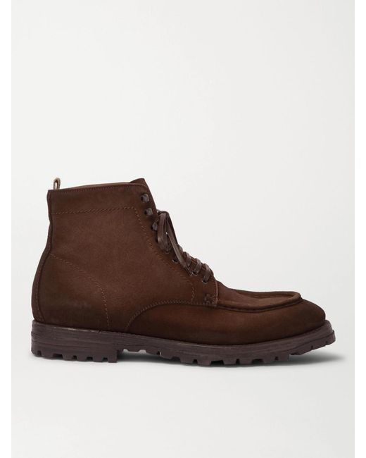 Officine Creative Brown Vail Suede Lace-up Boots for men