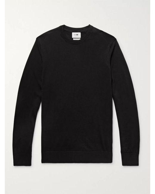 NN07 Black Ted Merino Wool Sweater for men